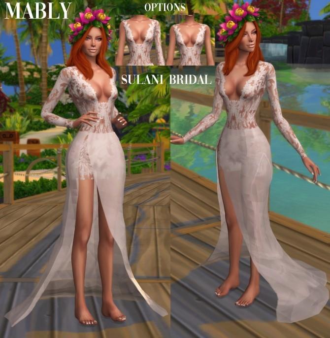 Sims 4 SULANI BRIDAL Dress at Mably Store