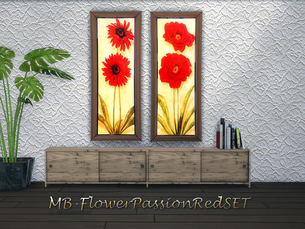 Sims 4 MB Flower Passion Red SET by matomibotaki at TSR