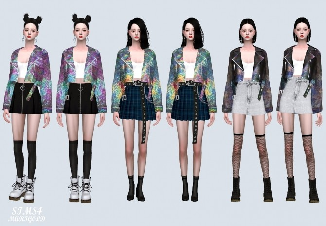 Hologram Jacket With Sleeveless at Marigold image 2155 670x464 Sims 4 Updates