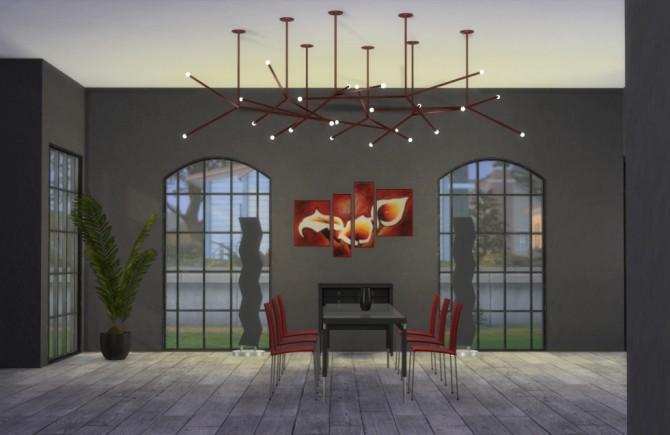 Sims 4 Ceiling Lamp Constellation at OceanRAZR