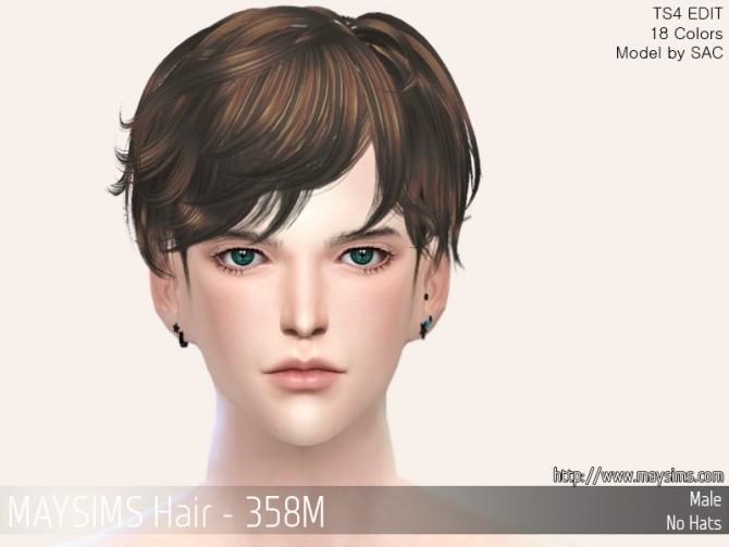 Sims 4 Hair 358M at May Sims