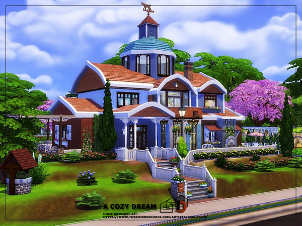 A cozy dream house by Danuta720 at TSR image 2215 Sims 4 Updates