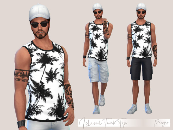 Sims 4 Island Tank Top by Paogae at TSR