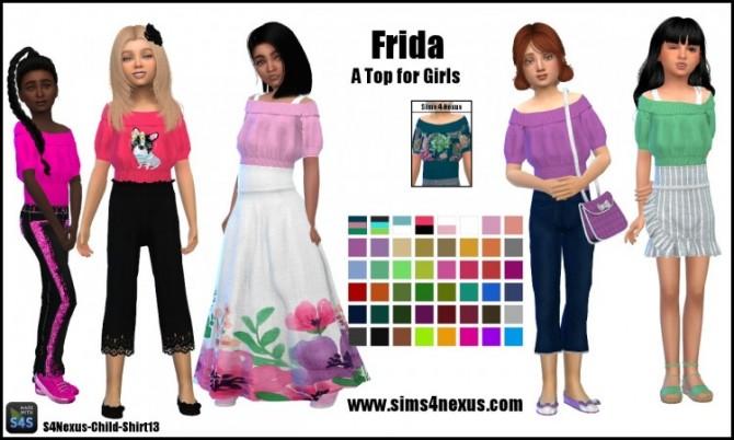 Sims 4 Frida top for girls by SamanthaGump at Sims 4 Nexus