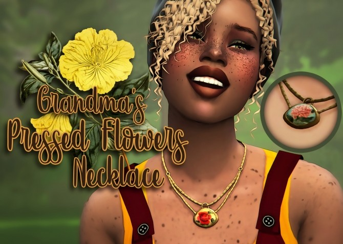 BG Pressed Flowers Necklace at Miss Ruby Bird image 23110 670x478 Sims 4 Updates