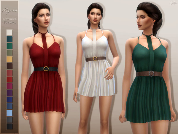 Sims 4 Myrina dress by Sifix at TSR