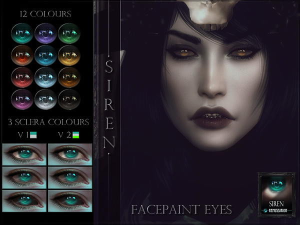 Sims 4 Siren Eyes by RemusSirion at TSR