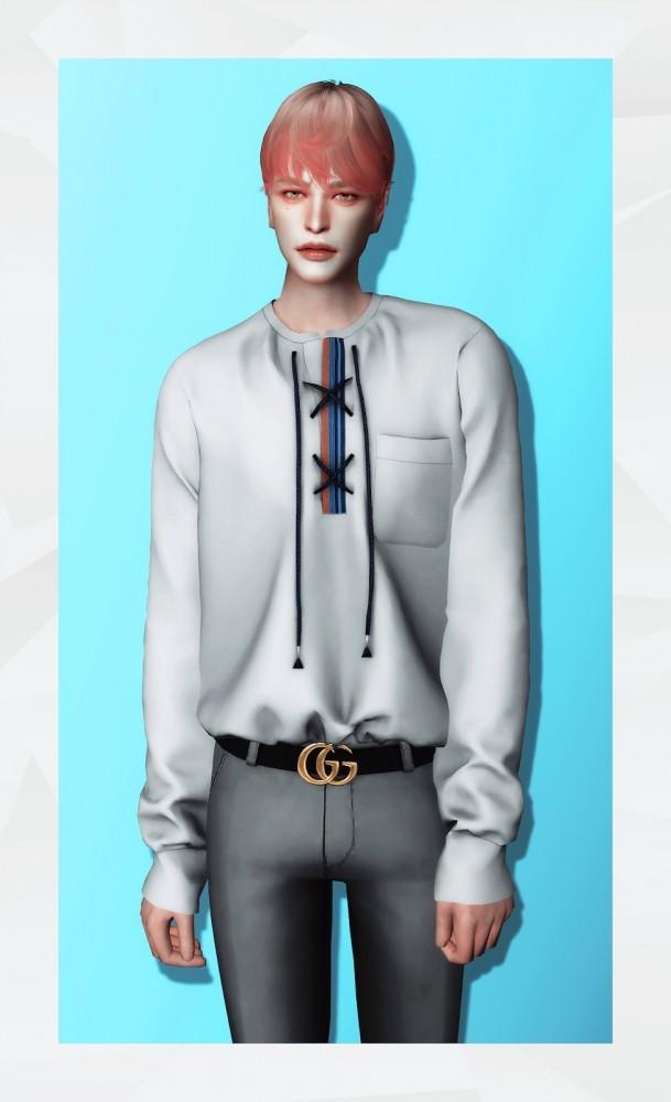 Lace Up Shirt at Gorilla image 2361 609x1000 Sims 4 Updates