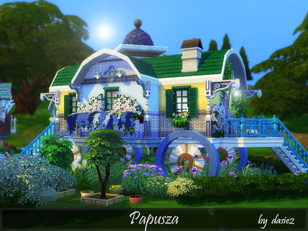 Sims 4 Papusza lovely colorful Romani camp by dasie2 at TSR