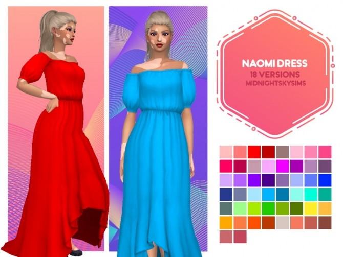 Sims 4 Naomi & Bellisama Dresses at Midnightskysims
