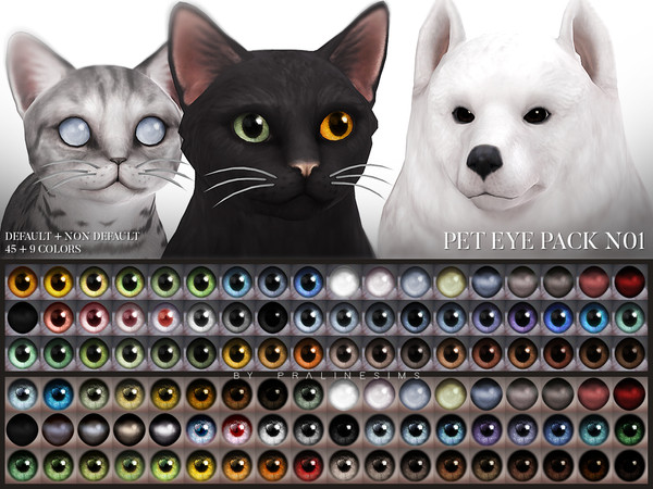 Sims 4 Pet Eye Pack N01 by Pralinesims at TSR