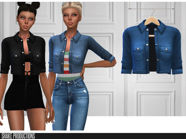 Sims 4 289 Denim Jacket by ShakeProductions at TSR