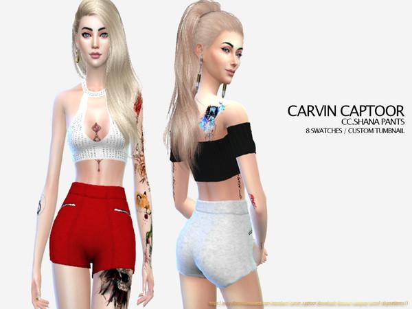Sims 4 Shana pants by carvin captoor at TSR