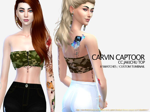 Jakichu top by carvin captoor at TSR image 2512 Sims 4 Updates