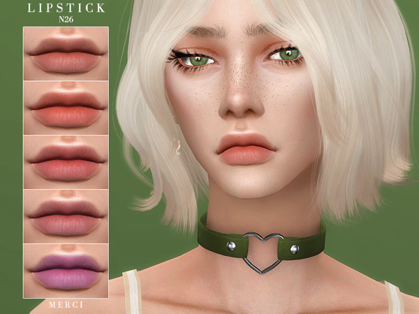 Sims 4 Lipstick N26 by Merci at TSR