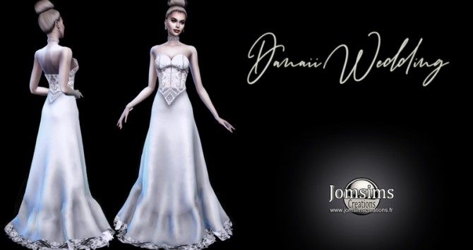 Sims 4 Danaii wedding dress at Jomsims Creations