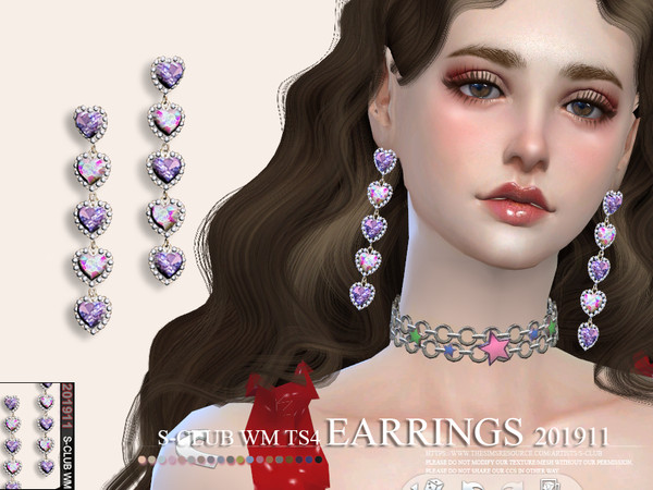EARRINGS 201911 by S Club WM at TSR image 256 Sims 4 Updates