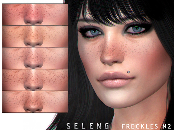 Sims 4 Freckles N2 by Seleng at TSR