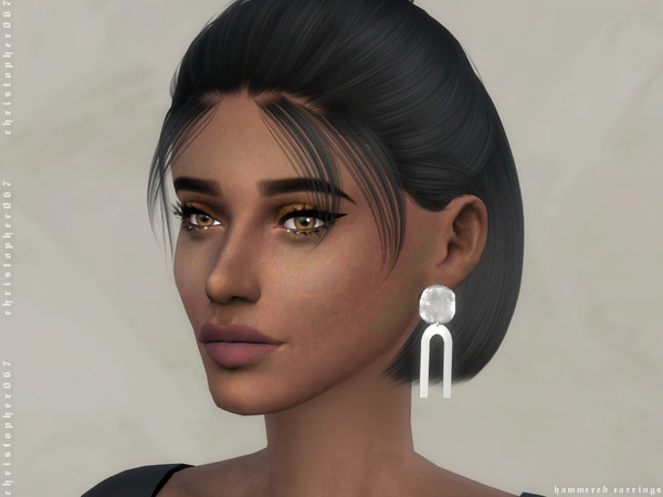 Hammered Earrings by Christopher067 at TSR image 268 Sims 4 Updates