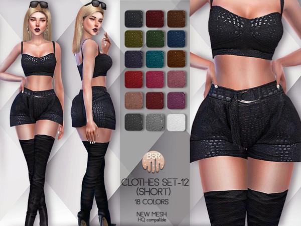 Sims 4 Clothes SET 12 SHORT BD60 by busra tr at TSR