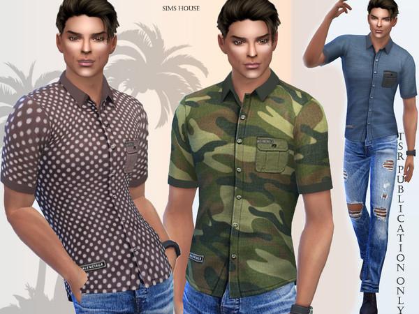 Sims 4 Safari mens shirt by Sims House at TSR