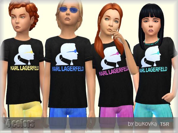 Sims 4 Child Shirt by bukovka at TSR