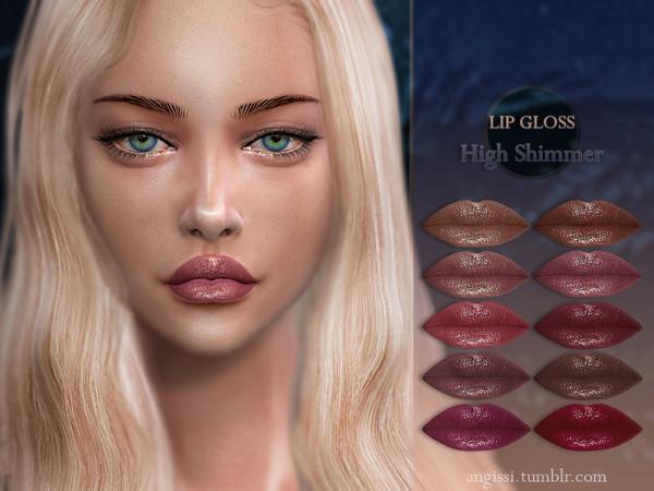 Sims 4 LIP GLOSS High Shimmer by ANGISSI at TSR