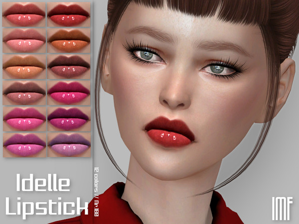 Sims 4 IMF Idelle Lipstick N.180 by IzzieMcFire at TSR