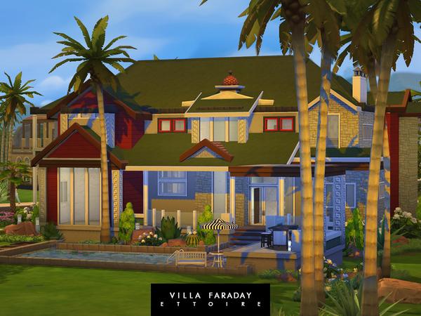 Sims 4 Villa Faraday by Ettoire at TSR