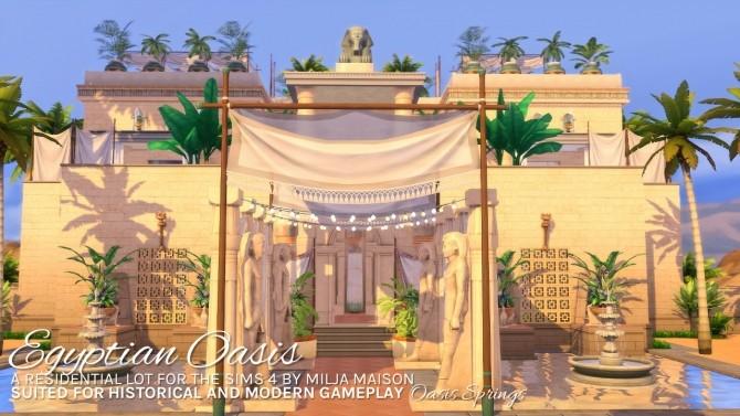 Sims 4 EGYPTIAN OASIS at Milja Maison