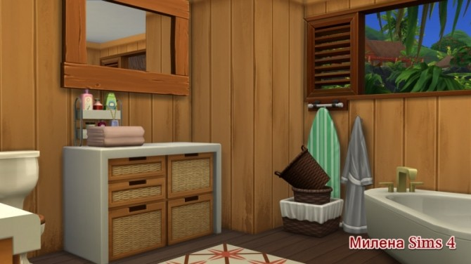 Sims 4 Beach Bungalow at Sims by Mulena