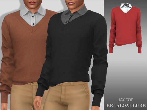 Sims 4 Jay top by belal1997 at TSR