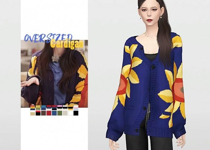 Oversized Cardigan at Waekey image 2961 670x479 Sims 4 Updates