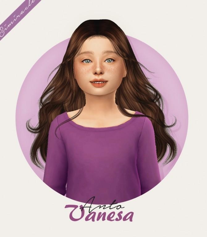 Sims 4 Anto Vanesa Hair Kids Version at Simiracle