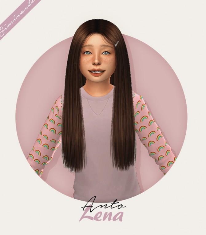 Sims 4 Anto Lena Hair Kids Version at Simiracle