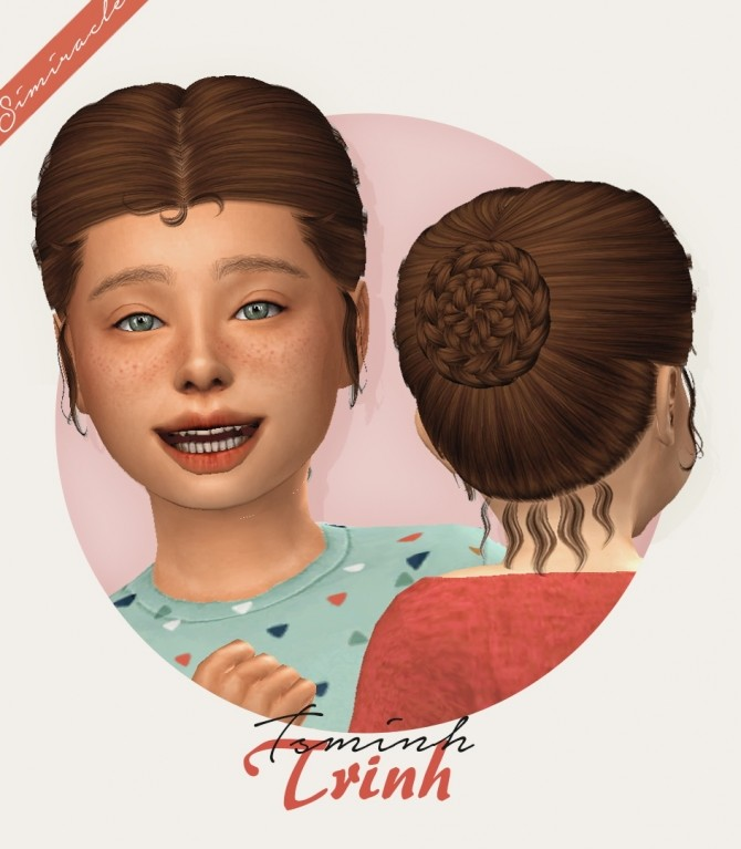 Sims 4 Tsminh Sims Trinh hair for kids and toddlers at Simiracle