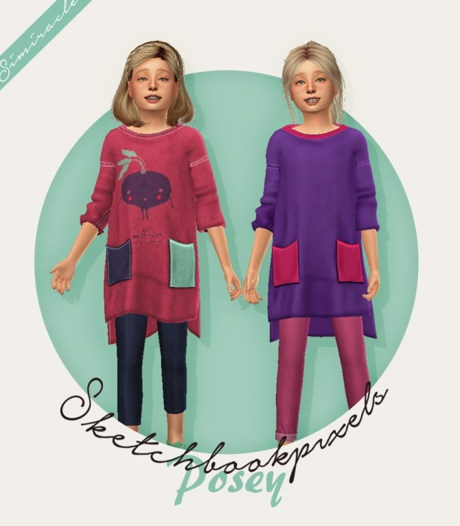 Sketchbookpixels Posey 3T4 shirt Kids Version at Simiracle image 300 670x767 Sims 4 Updates