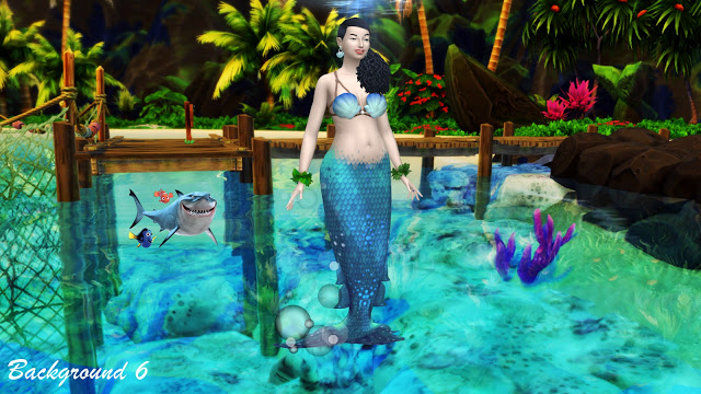 Sims 4 Mermaid CAS Backgrounds at Annett's Sims 4 Welt