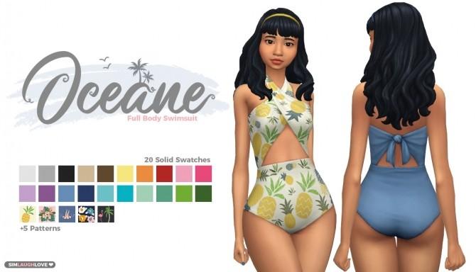 Sims 4 Oceane swimsuit at SimLaughLove