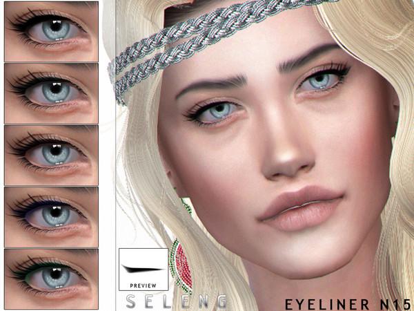 Sims 4 Eyeliner N15 by Seleng at TSR