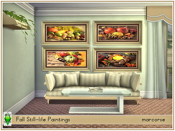 Fall Still Life Paintings by marcorse at TSR image 3106 Sims 4 Updates