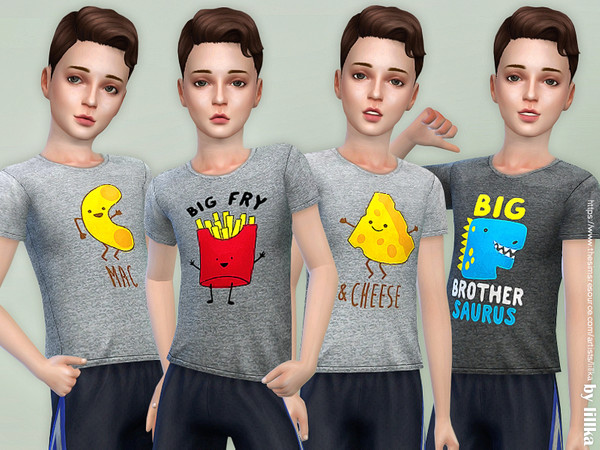 Sims 4 T Shirt Collection for Boys P13 by lillka at TSR