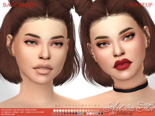 Aphrodite Skin Overlay F by Pralinesims at TSR image 3117 Sims 4 Updates