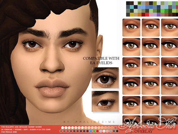 Aphrodite Skin Overlay F by Pralinesims at TSR image 3215 Sims 4 Updates