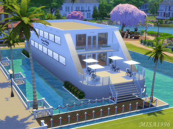 Sims 4 Sea Food Restaurant by Misa1996 at TSR