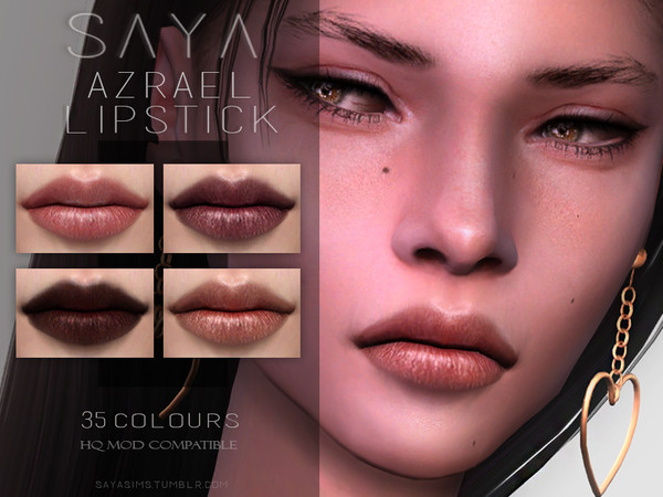 Sims 4 Azrael Lipstick by SayaSims at TSR