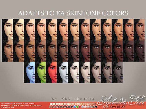 Aphrodite Skin Overlay F by Pralinesims at TSR image 3313 Sims 4 Updates