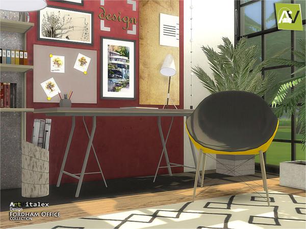 Sims 4 Fordham Office by ArtVitalex at TSR