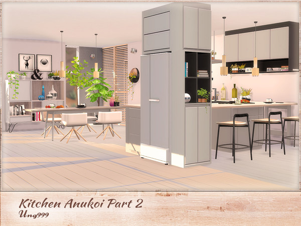 Kitchen Anukoi Part 2 by ung999 at TSR image 3320 Sims 4 Updates