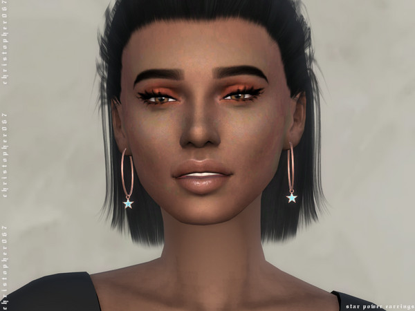 Star Power Earrings by Christopher067 at TSR image 336 Sims 4 Updates
